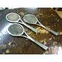 Raquetas De Tenis En Bronce Pequeñas X 3