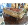 Cofre Antiguo Hindu En Bronce Y Madera Tipo Piano