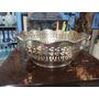 Frutero Antiguo Hindu Tallado Bronce Con Baño De Plata
