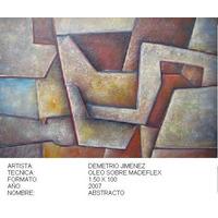 Abstracto-demetrio Jimenez-oleo Sobre Madeflex