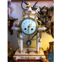 Reloj Péndulo Frances Antiguo 1880 Marmol Guarnicion