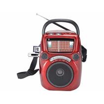 Radio Portatil Premier - Batería Recargable Usb Parlante Sd