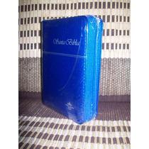 Biblia Rvr60 Imitacion Piel Azul Electrico Cierre