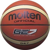 Balon Baloncesto Molten Ge7 Original 100% En Cuero Sintetico