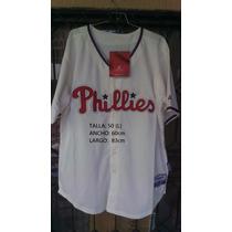 Camiseta Beisbolera Philadelphia Phillies Sz L (50)