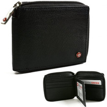 Billetera Swiss Alpine Zipper Wallet With Security Para Homb
