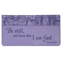 Billetera Psalm : Purple Checkbook Cover Para Mujer