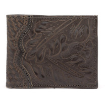 Billeteras American West Hand Tooled Bi-fold Ifs Para Hombre