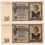 Billete 20 Reichsmark 16 Jun 1939 Alemania E10/10 Oferta