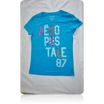 Blusa Aeropostale Dama Talla Xl/g Grande Camiseta Esqueleto