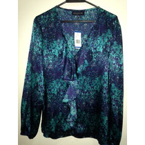 Navidad Blusa Jones New York Estampada Xl Moda Fashion Ultim