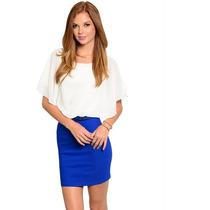Vestido Blusa Short Corto Falda Mujer Dama Moda
