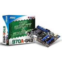 Board Msi 970a-g43 Am3+ Atx Crossfire Usb 3.0 Sata 6gb/s