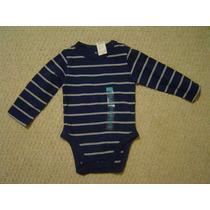 Body Para Bebe Talla 12 Meses Color Azul Marca Children Plac