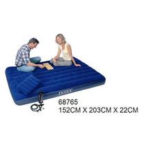 68765 Colchón+almohada+inflador Inflable Intex152x203x 22cm