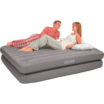 67744 Colchon Inflable Intex152x203x46cm Queen 2en1 Airbed