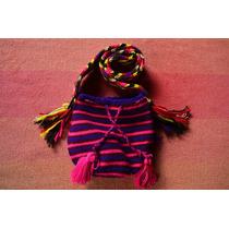 Mochila Wayuu Mediana Para Niños Y Niñas