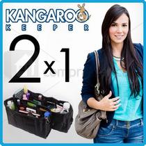 Kaguroo Keeper Organizador De Bolso Dama Grande Pequeño 2x1