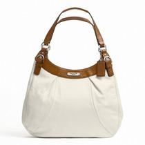 Bolso Coach Soho Leather Hobo Large White/nutmeg F Femenino