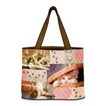 Bolso My Heart Cat Tote Bag By Exchange Ifs Femenino