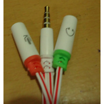 Cable 3.5 Macho A Doble 3.5 Hembra Para Micrófono Diadema Pc