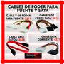 Cables De Poder Para Fuente Y Sata