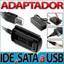 Cable Adaptador+convertidor Usb 2.0 A Conexión Sata + Ide