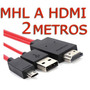 2m Cable Mhl Galaxy Samsung S3 S4 Note 2 8 Hdmi Hd Android