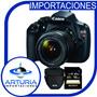 Canon T5+lente 18 55+memoria16gbsclass10+bolso