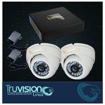 Kit Video Vigilancia Cctv Dvr 4 Canales+camaras Truvision