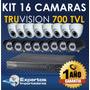 Cctv Kit De 16 Camaras De Seguridad Truvision Full Hd !