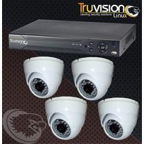 Cctv Kit Dvr De 4 Canales + 4 Camaras De Seguridad +cable
