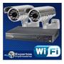 Cctv Kit Dvr 4 Ch +camaras De Seguridad Truvision 3 Años
