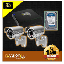Cctv Kit Dvr 4 Camaras De Seguridad Truvision + Disco Duro