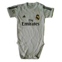 Body Camiseta Real Madrid James Para Bebe Mameluco