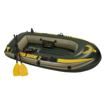Bote Inflable 2 Personas 2 Remos Doble Casco Seahawk 2 Pesca