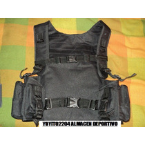 Chaleco Morral Tactico Militar Paint Ball Universidad,airsof