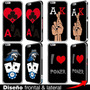 Carcasa Funda Estuche Iphone 6 Plus 5s 5 4s Poker Cartas 7 S