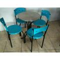 Mesa Y Cuatro Sillas Tubulares Economicas ,restaurante ,cafe
