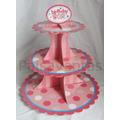 Soporte Cupcakes Dulces Base Bandeja Pasabocas Fiesta Niñas