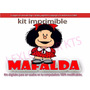 Kit Imprimible Candy Bar Mafalda Cotillón Tarjetas Invitacio
