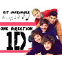 Kit Imprimible One Direction Personalizá Tarjetas, Cumples