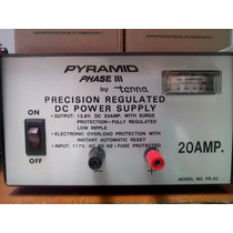 Fuente Voltaje Regulable, 13.8 Volt, 20 Amp. Pyramid. Usada