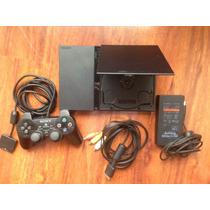 Consola Slim Negra - Usada - Sony / Playstation 2 / Ps2