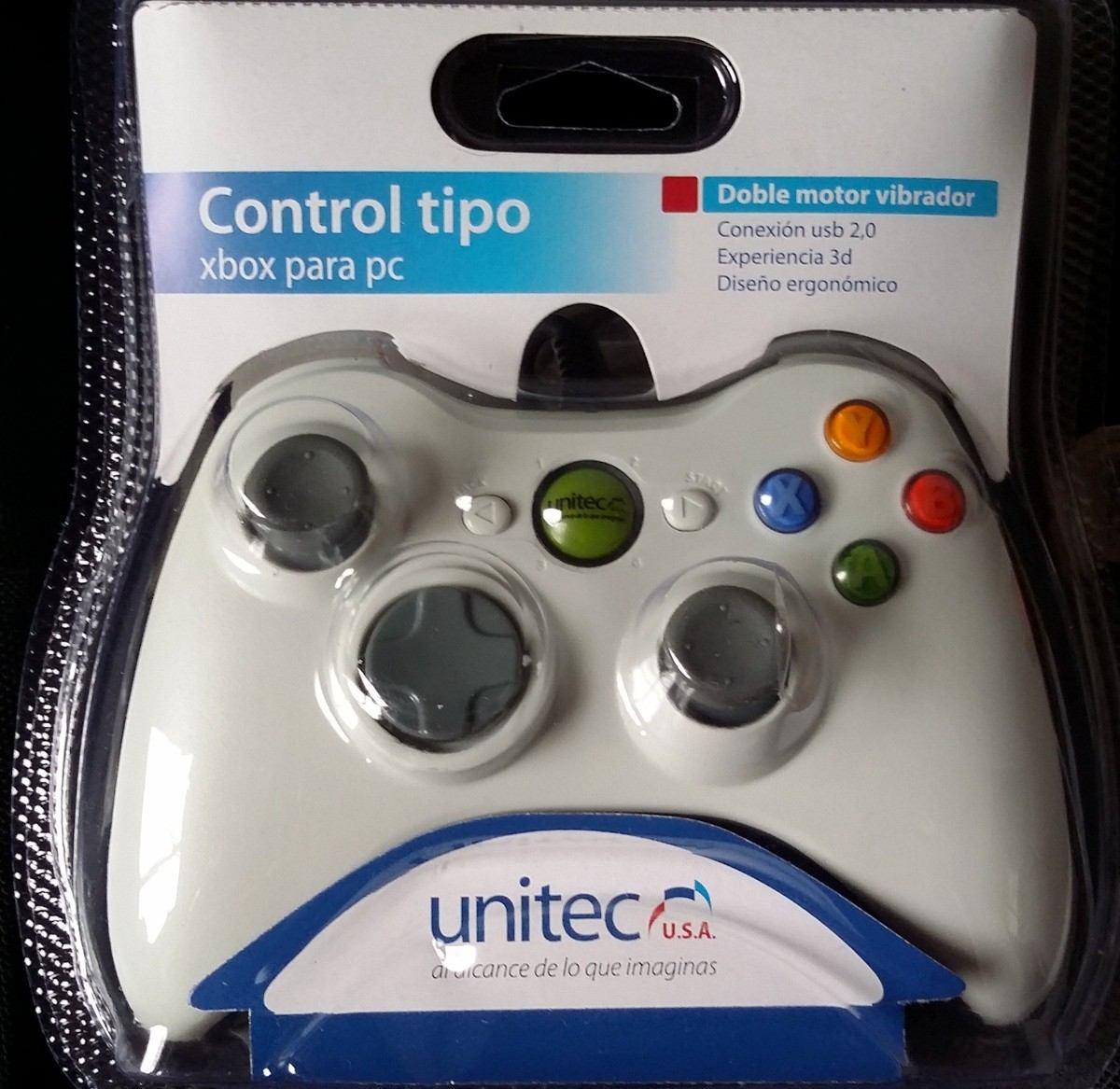 control para pc tipo 360 unitec