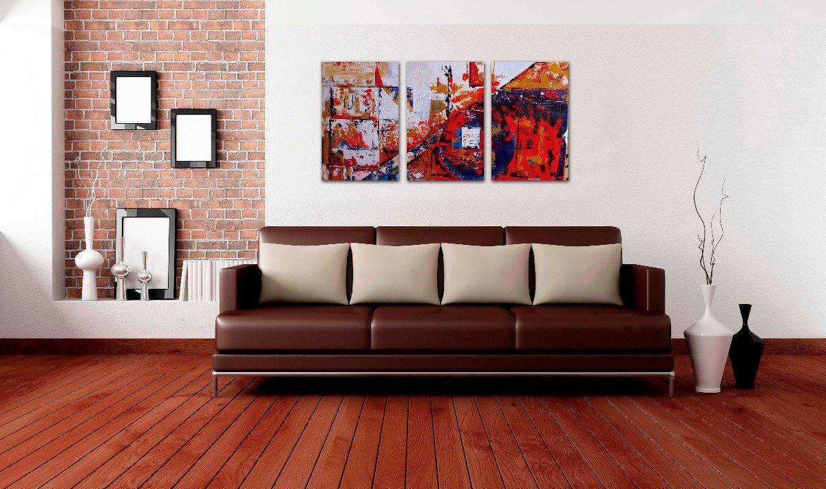 Pin cuadros tripticos abstractos modernos agregar - Cuadro decorativos modernos ...