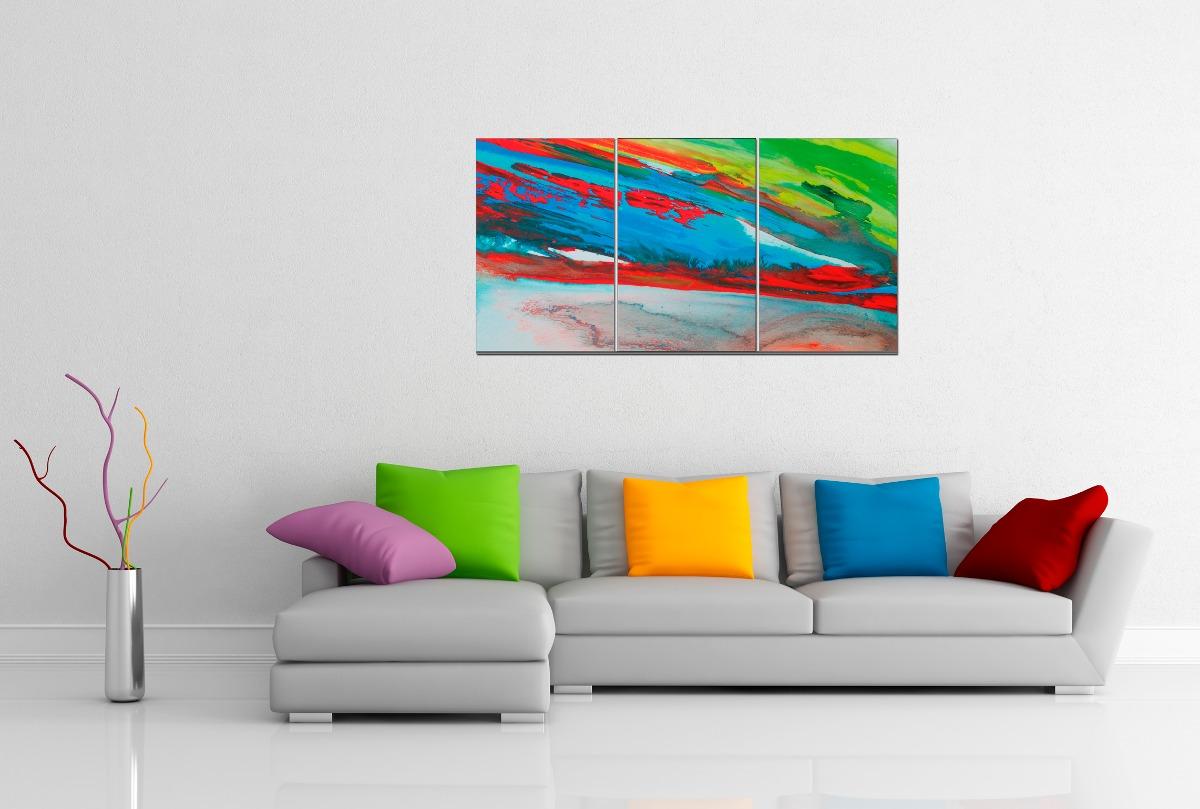 Cuadros abstractos modernos decorativos tripticos dipticos - Cuadro decorativos modernos ...