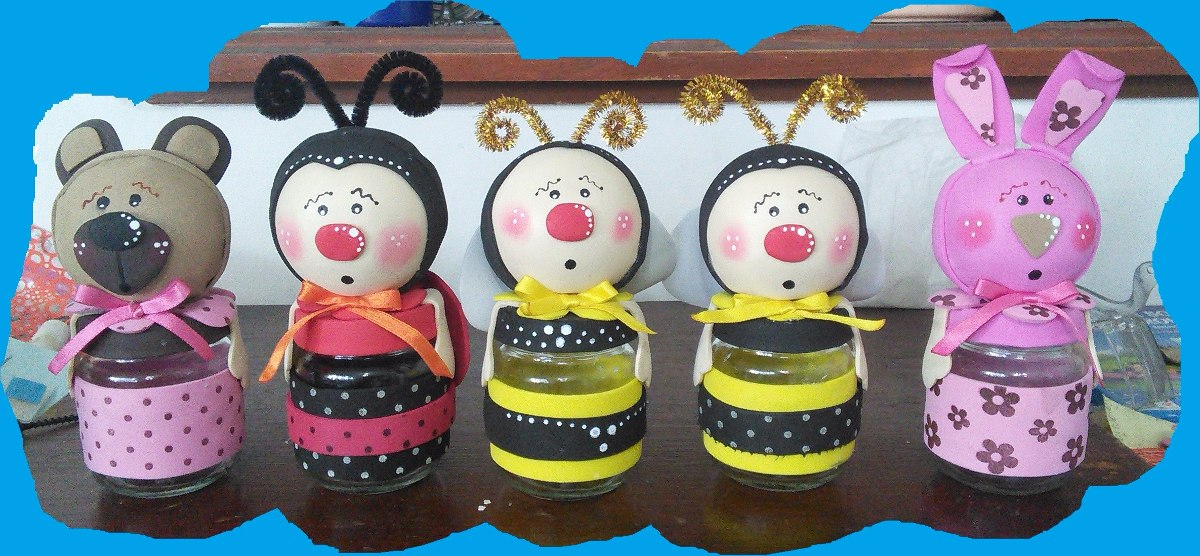 Souvenirs buhos de la suerte manualidades gratis en for Decoracion infantil goma eva