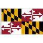 Bandera De Maryland - Estados Unidos De América Usa 5ftx 3f