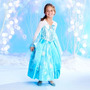 Disfraz Frozen Elsa De Lujo Disney Original Talla 7/8